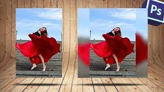 Как из вертикальной фотографии сделать квадратную с размытыми краями в фотошопе