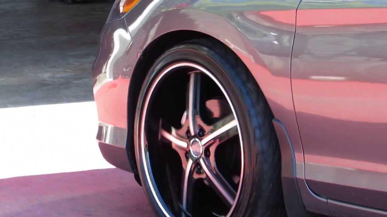 Hillyard rim lions 2014 honda accord with 20 inch black machined custom wheels tires