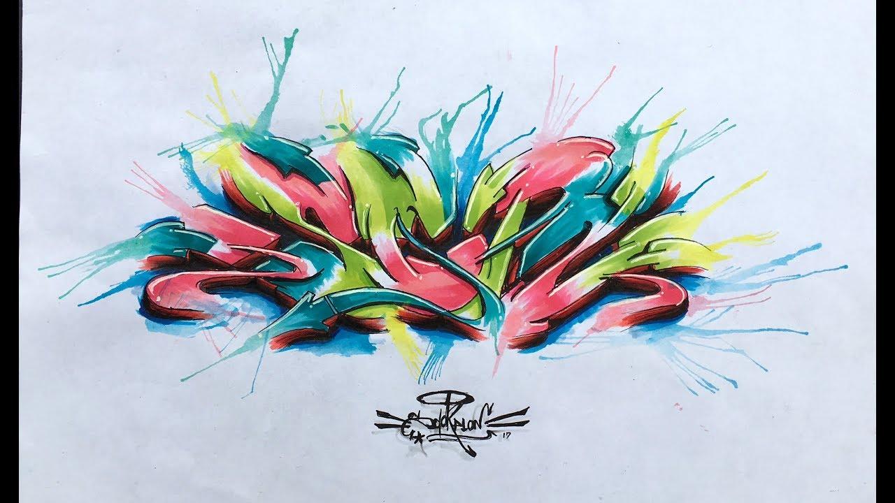 Graffiti Sketch 2017 Scpn 03 Blackbook