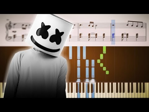 HAPPIER (Marshmello ft. Bastille) - Piano Tutorial + SHEETS