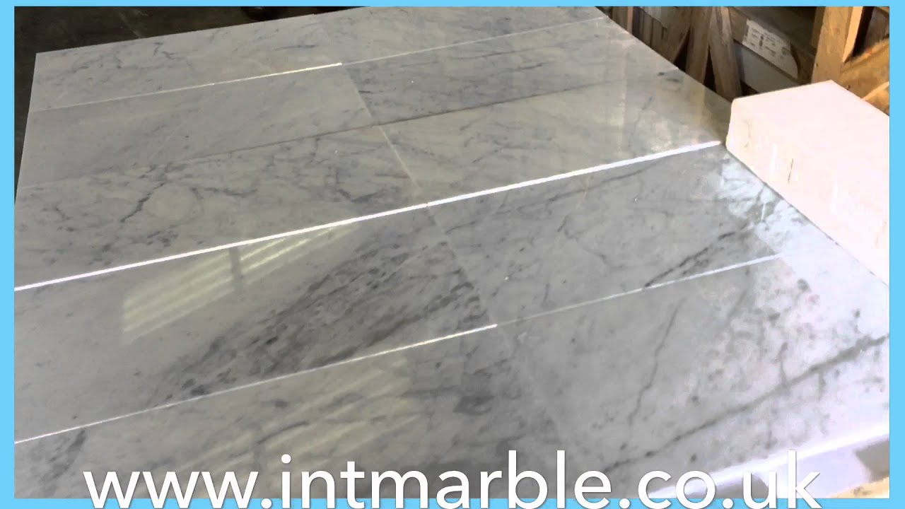 Marble Tile Italian Polished Bianco C Carrara Floor And Wall Cover 12x24