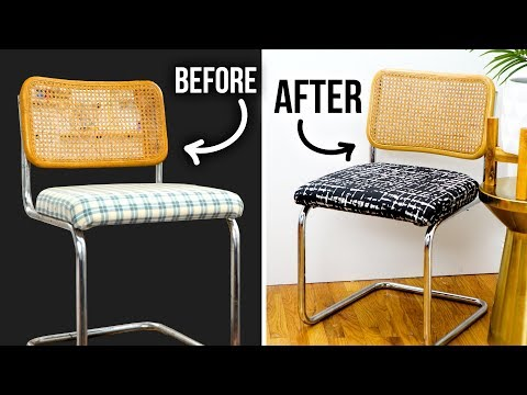 DIY Thrift Store Chair Makeover - How to Reupholster & Clean Rust - HGTV Handmade
