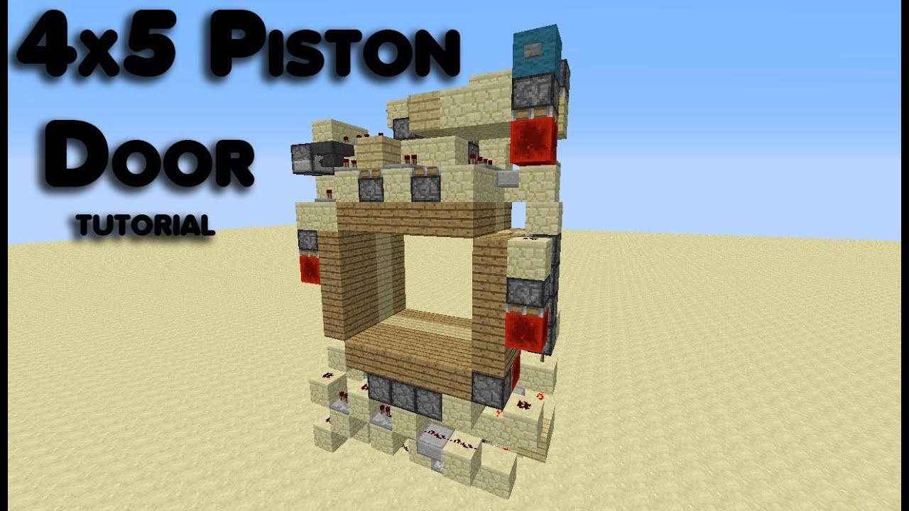 4x5 Piston Door Tutorial & 4x5 Piston Door Tutorial - YouTube Pezcame.Com