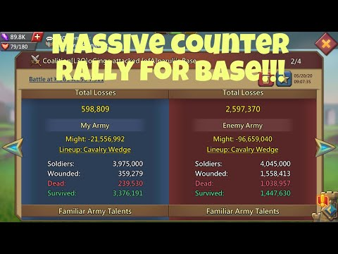 Massive Actions Tons Of Rallies! Lords Mobile