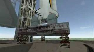 Space Shuttle Discovery (STS-121) launch in Half-Life