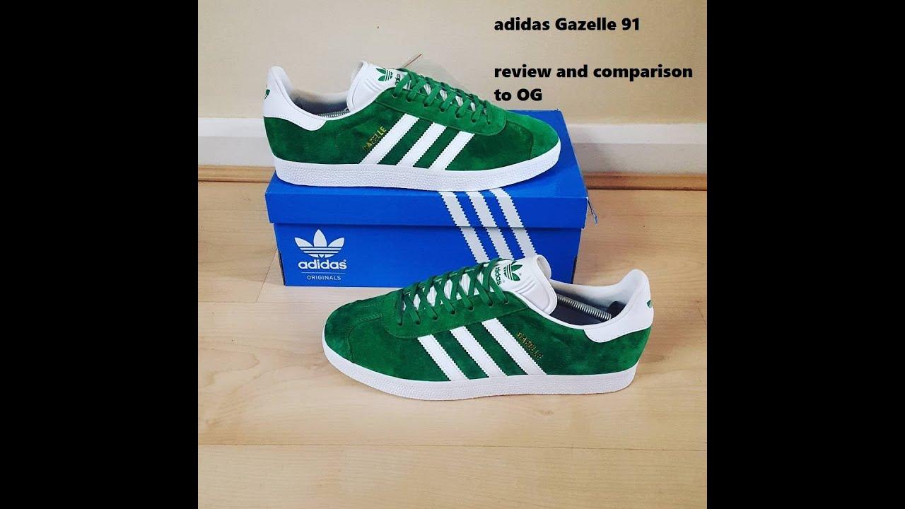 quality design 46dda 53a54 Adidas Gazelle 1991 - Plus comparison with OG!