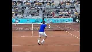 El gran maestro Roger Federer en cámara lenta. Saque, derecha, revés