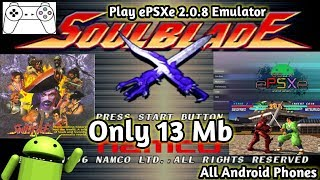 Gambar cover How to download soul blade only 13 mb and play epsxe ps1 emulator inside must watch