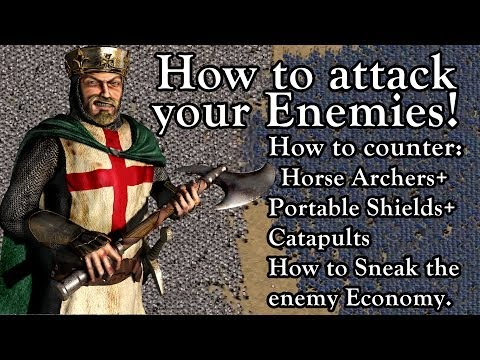 Stronghold Crusader - How to attack your Enemies | Tutorial for NO RULES w/ .:NightMare:. [1080p/HD] |