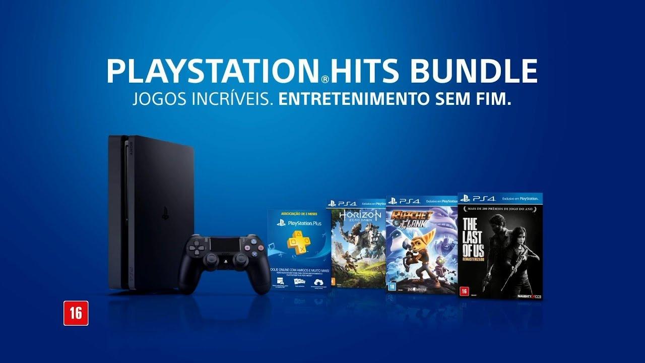 Ps4 Bundle Playstation Hits No Brasil Horizon Zero