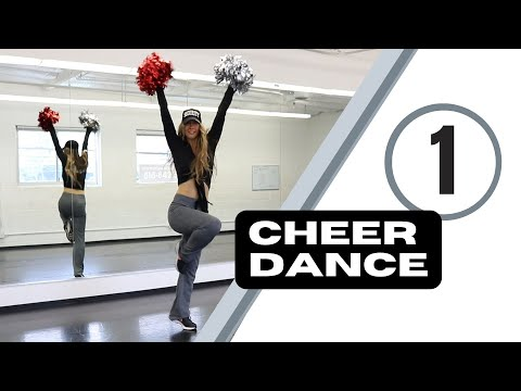 Cheer dance routine - step by step cheerleading dance tutorial pom poms