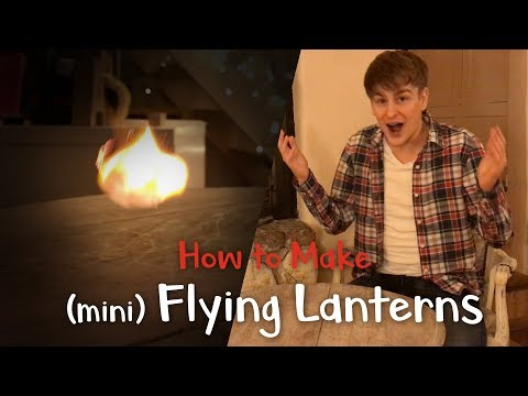 How to make mini floating paper lanterns - with lantern launch