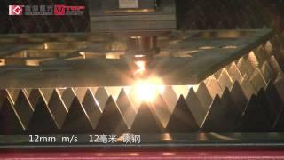 12mm Mild Steel Metal Laser Cutting Machine 1000W Fiber