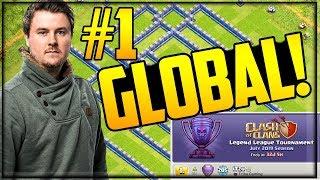 He's #1 GLOBAL! Clash of Clans Legend League Trophy LEADER- ITZU!