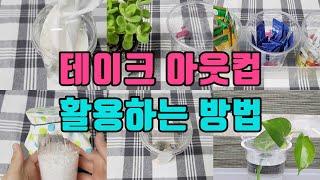 짠내나는 플라스틱컵 재활용  / 테이크 아웃컵 다시 사…