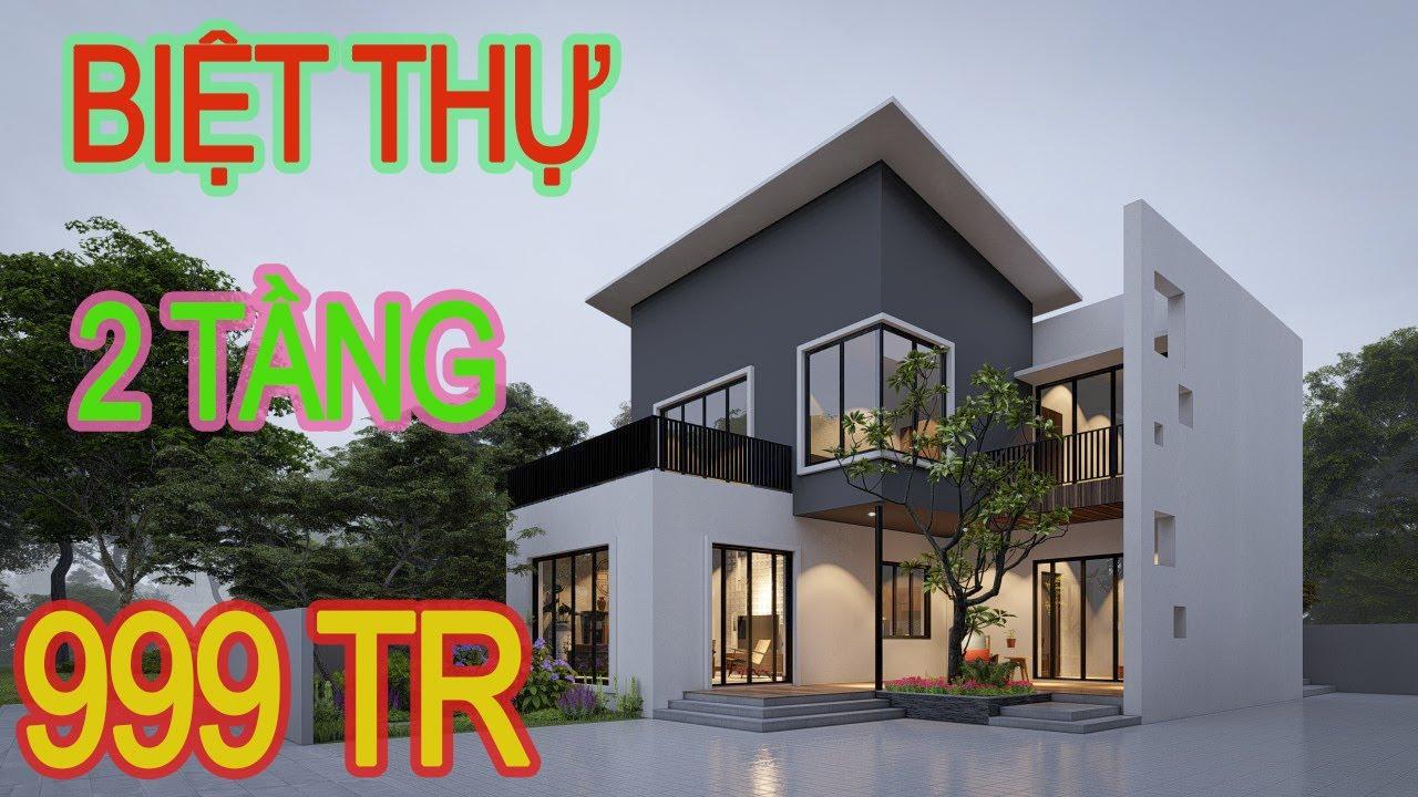 Nhà 2 tầng 5 phòng ngủ kích thước 12mx13m