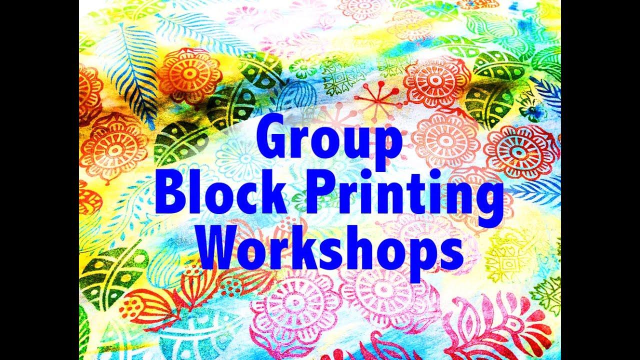 Fabric block printing workshop arts and crafts ideas for Fabric arts and crafts ideas