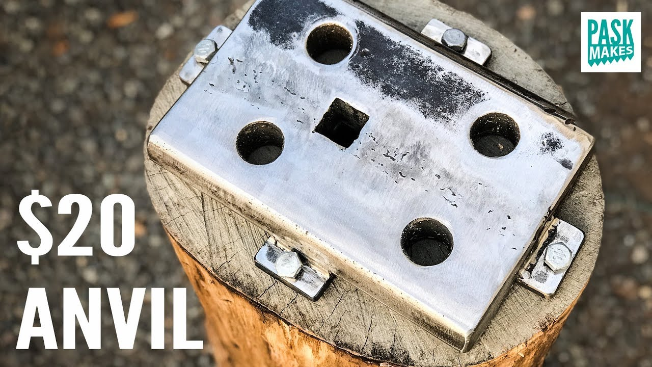 Homemade Anvil with a Hardy Hole - plus