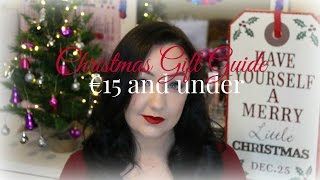 Christmas Gift Guide! 15 Euro and Under Thumbnail