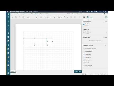 JavaScript Report Designer | ActiveReportsJS
