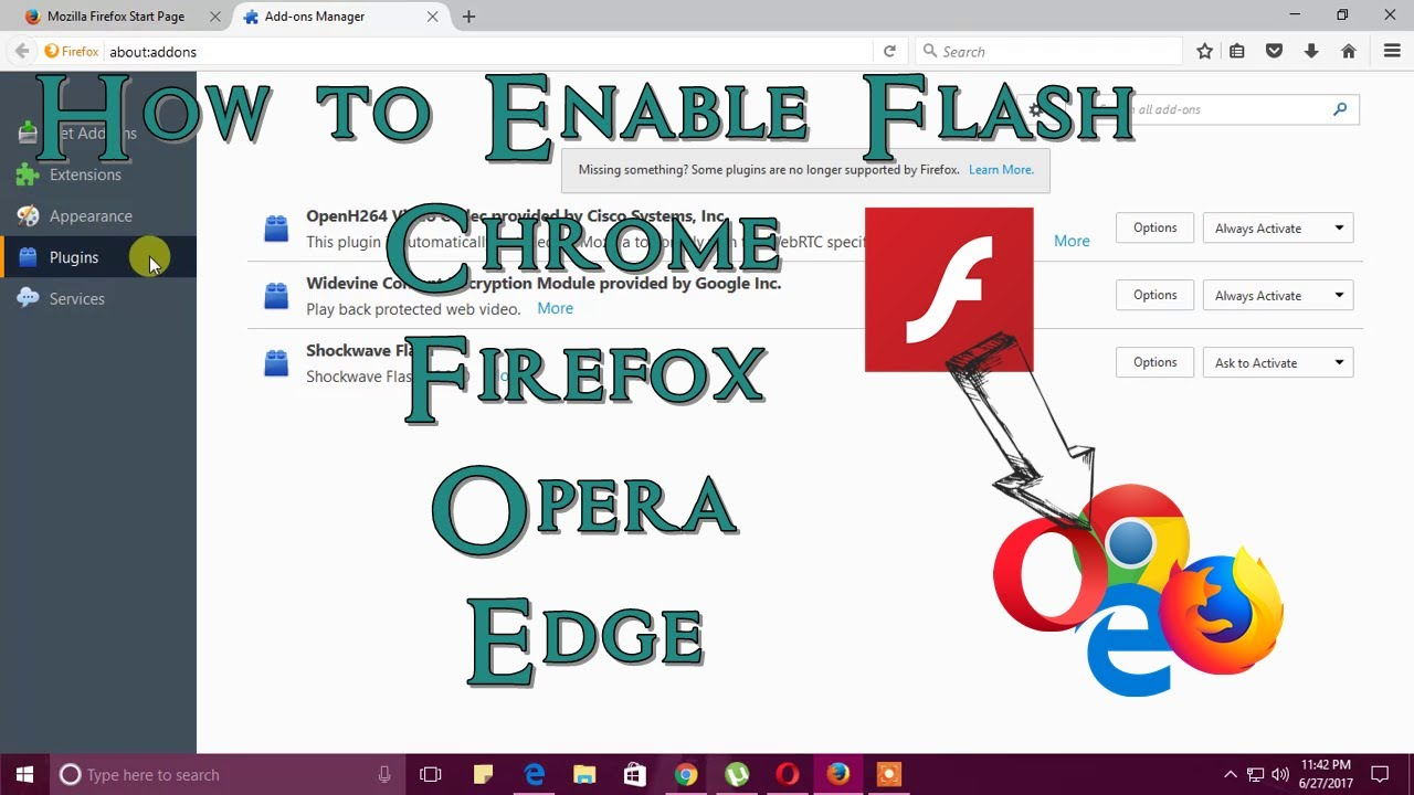 How To Enable Flash In Chrome, Firefox, Opera & Edge