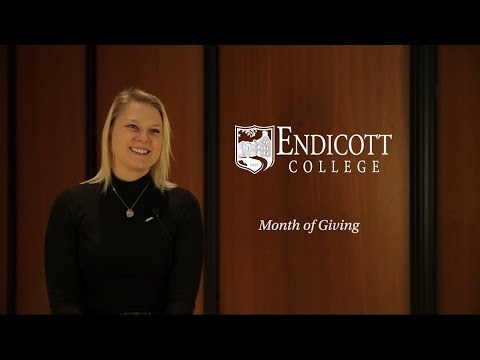 Endicott College Month of Giving 2018 - Student Impact