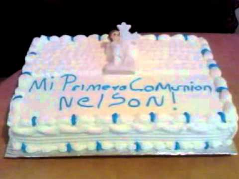 Pastel De Primera Comunion Youtube