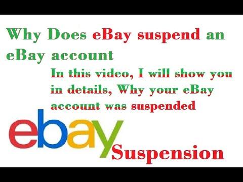 Why Does Ebay Suspend An Ebay Account Ebay Suspension Ebay Account Suspended Why Youtube