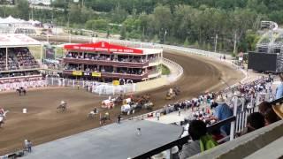 Chuckwagon Race - GMC Rangeland Derby - Calgary Stampede Heat 2 July 10, 2014