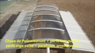 Como instalar uma cobertura de Policarbonato Compacto em Arco cor Bronze  tunel