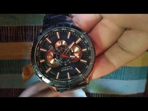 Unboxing And Review CURREN Sport Watches Men's Luxury Brand Quartz Clock Stainless 2019 Watch