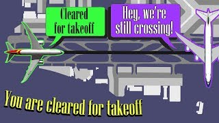 [REAL ATC] A330 starts takeoff roll while B747 is still crossing!