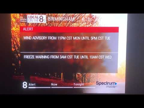 Birmingham Alabama Freeze Warning, Wind Advisory, And Record Low Temperatures Nov 11 2019