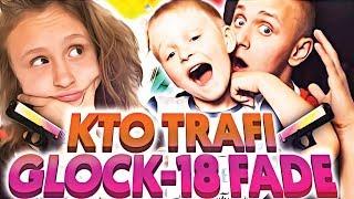 KTO TRAFI GLOCK-18 | FADE? | Bracia VS Siostra! WATER JUMP CHALLENGE!