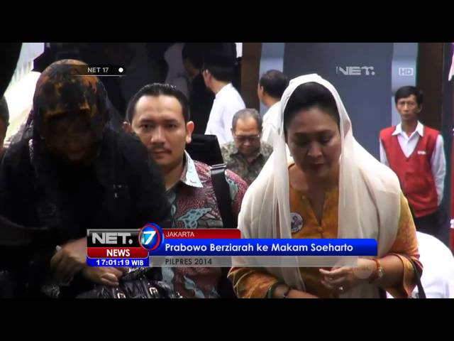NET17 - Capres Prabowo dan Istrinya nyekar ke makam Suharto #Pemilu 2014