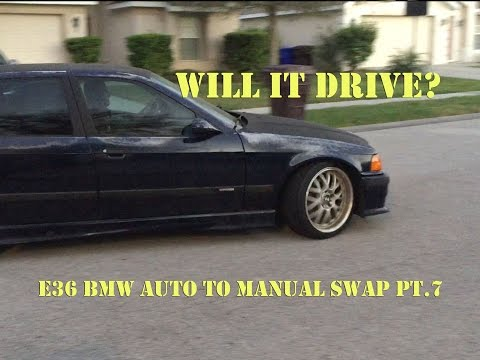E36 BMW Auto to Manual Swap Pt. 7