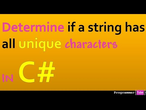 How to determine if a string has all unique characters in C#