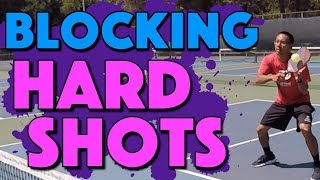 Blocking Hard Shots | How To Block Shots When Attacked In Pickleball