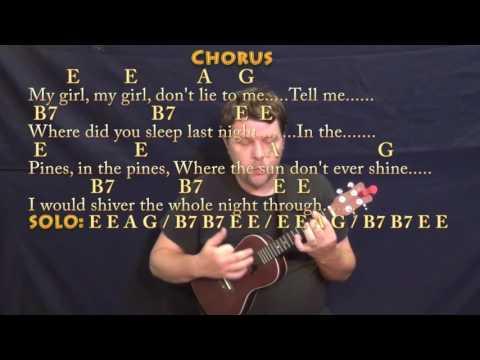 Where Did You Sleep Last Night (Nirvana) Ukulele Cover Lesson in E with Chords/Lyrics