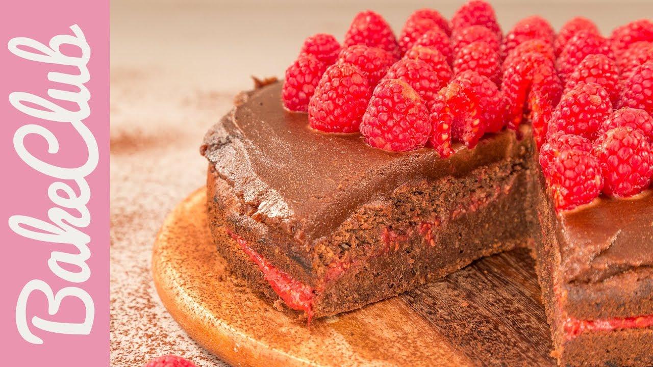 Gesunder Schoko Himbeer Kuchen Ohne Zucker Bakeclub Youtube