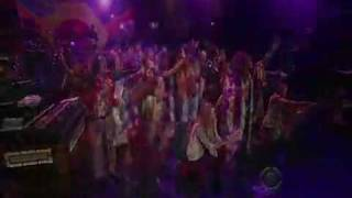 Aquarius and Let the sunshine in - Hair Musical on Broadway - David Letterman TV Show