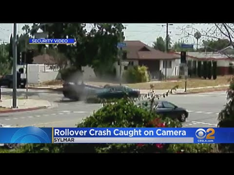 Security Video Shows Actor Danny Trejo Running To Help After Rollover Accident Traps Woman, Child In