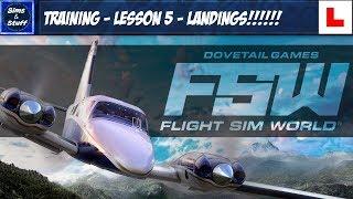 Flight Sim World - Training - Lesson 5 - Approach & Landing