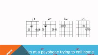 Payphone Lyrics and Guitar Chords
