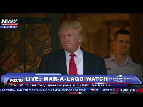 MUST WATCH: Trump Speaks Outside of Mar-A-Lago Estate After Meeting With Military Officials