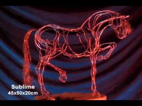 Esculturas alambre caballos youtube - Alambre galvanizado manualidades ...