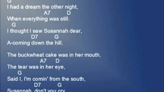 Oh Susannah lyrics and chords