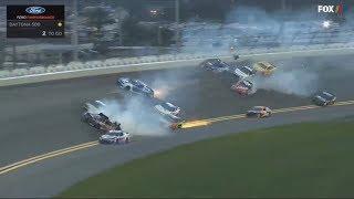 Monster Energy Nascar Cup Series 2018. Daytona International Speedway. Big Crash #3