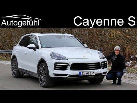 Porsche Cayenne S FULL REVIEW test all-new Cayenne 2019 2018 - Autogefühl
