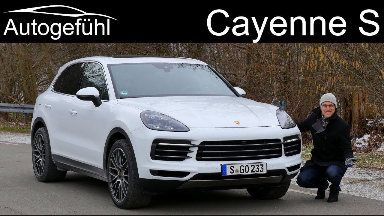 Porsche Cayenne S Full Review Test All New Cayenne 2019 2018 Autogefühl